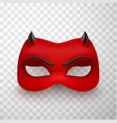 devil mask scary mysterious monster costume vector image