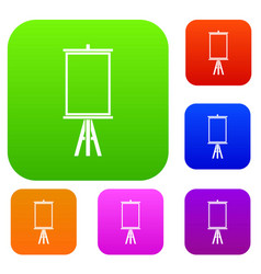 easel set color collection vector image