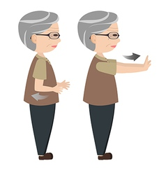 Exercise posture for elders vector