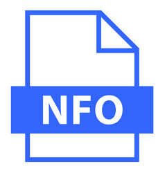 file name extension nfo type vector image vector image