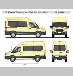 Ford transit passenger van l2h3 2014-2018 vector