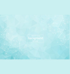 geometric blue light polygonal background vector image