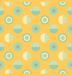 Geometric wheels symmetry seamless pattern vector