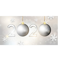 happy new year bauble banner vector image