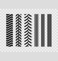Heavy machinery tires track patterns vector