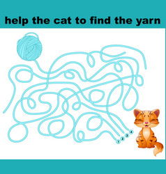 Help the cat to find the yarn vector