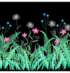 Herbs and flowers vector