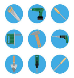 Icon construction tools set vector