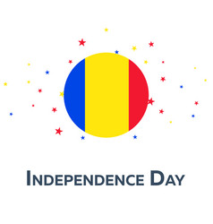 independence day of romania patriotic banner vector image