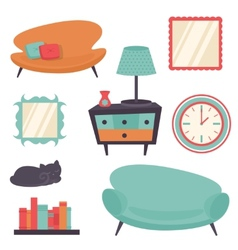 Interior design elements vector image vector image