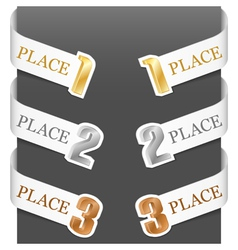 left and right side signs - trophy numbers vector image