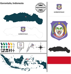 Map of Gorontalo vector image