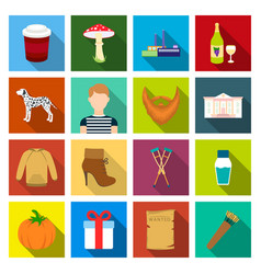 Nature activities travel and other web icon in vector