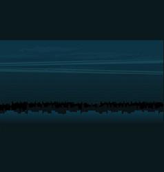 night city background flat vector image