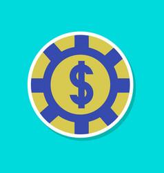Paper sticker on stylish background poker chips vector
