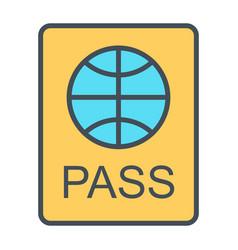 passport line icon simple minimal 96x96 pictogram vector image