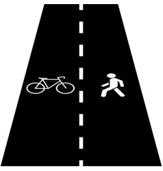 Pedestrian bike trail vector
