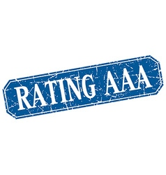 rating aaa blue square vintage grunge isolated vector image