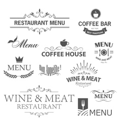 Restaurant signs vector image