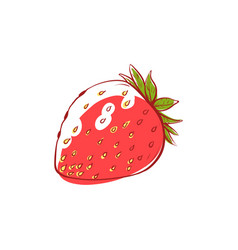 ripe strawberry isolated icon vector image