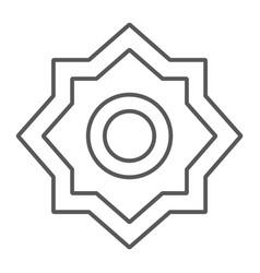 Rub el hizb thin line icon arabian and symbol vector