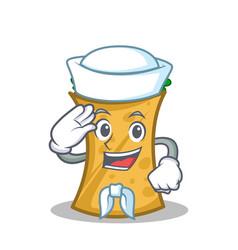 Sailor kebab wrap character cartoon vector