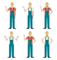 Set of Builders2 vector image