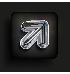 Square icon on black background Eps10 vector