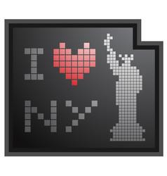 sticker new york vector image