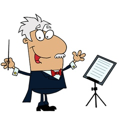 Tan Cartoon Music Conductor Man vector image