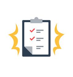 Task management check list efficient work vector
