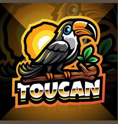 Taucan esport mascot logo design vector