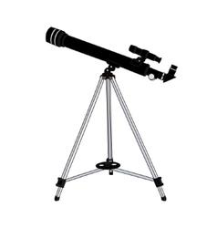 telescope isolated on white background vector image