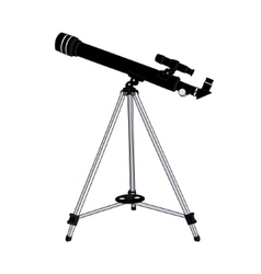 The telescope isolated on white background vector