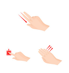 touchscreen and hand logo vector image