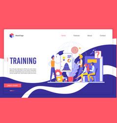 training website landing page flat cartoon vector image