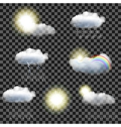 Transparent weather icons vector image