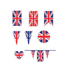 Uk union jack flag vector