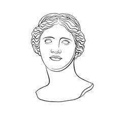 Venus de milo s head 1 vector