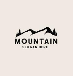 vintage black mountain logo template logo vector image