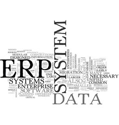 What is erp text word cloud concept vector
