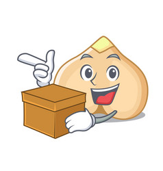 with box chickpeas character cartoon style vector image