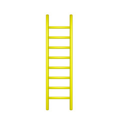 wooden ladder in yellow design vector image vector image