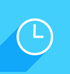 clock icon flat clock sign isolated vector image