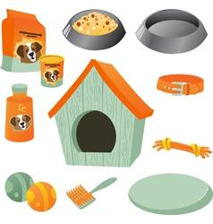 Dog care icon set vector image