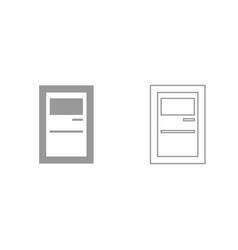 service terminal grey set icon vector image vector image