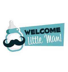 Baby Shower Greeting Emblem vector image vector image