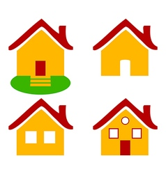 Colorful flat icons Homes isolated vector image vector image