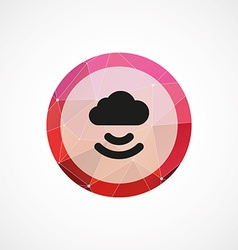 Connect cloud circle pink triangle background icon vector