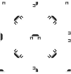 pagoda pattern seamless black vector image vector image